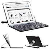 SHARKK® Apple iPad Air Keyboard Wireless Bluetooth Keyboard for Case Cover Stand For iPad 5 Air With 360 Degree Rotating Feature And Multiple Viewing Angles. Folio Style with IOS Commands. For the iPad Air ONLY