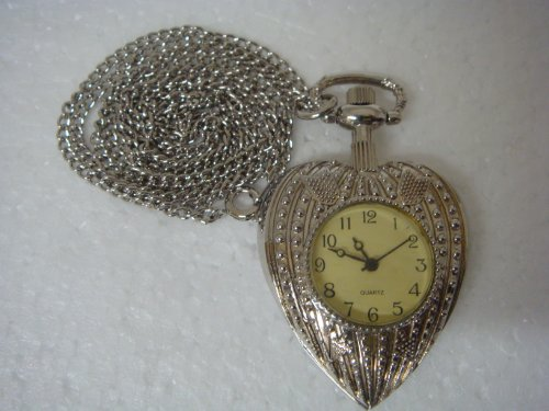 Heart Shape Quartz Watch Pendent - 91925