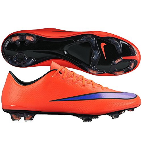 Nike Men's Mercurial Vapor X FG - (Bright Crimson/Persian Violet) (12) (Nike Boys Vapor Elite compare prices)
