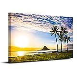 【リブラLibra】アートパネル 「海岸の景色」 キャンバス絵画 38*58cm (A)