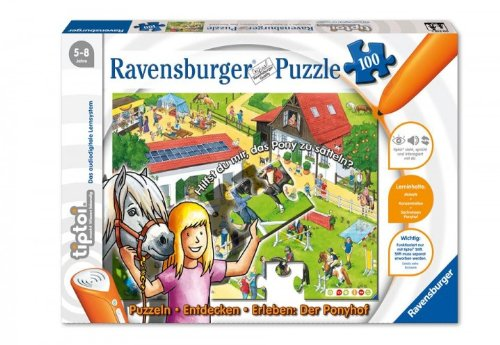 Ravensburger 005185 tiptoi Puzzle Ponyhof