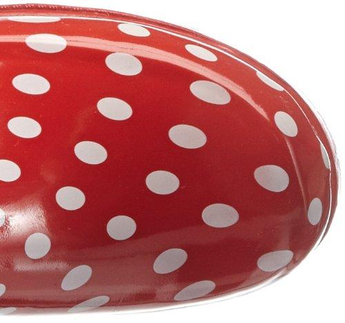 Playshoes Gummistiefel Punkte aus Naturkautschuk 190100, Damen Gummistiefel, Rot (rot 8), EU 40 -