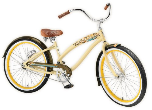 Nirve Lahaina Women's 3-Speed Automatic Shifting Cruiser Bike (Cocoa Butter)