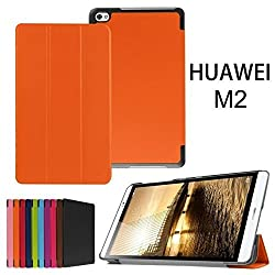 Huawei MediaPad M2 Case,Xindayi Ultra Slim Tri-Fold Leather Case Stand Cover for 8