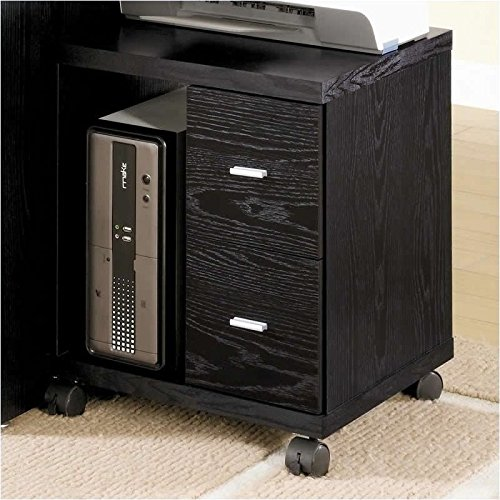 Coaster Peel 2 Drawer Computer Stand in Black (Cpu Cabinet compare prices)