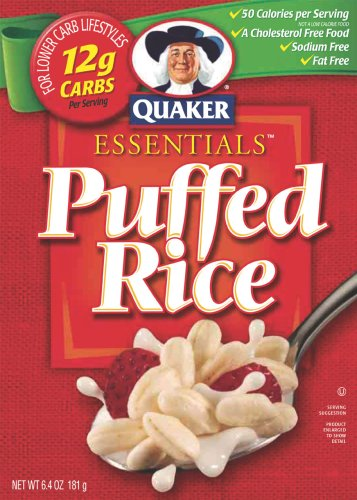 Quaker Essential Puffed Rice Cereal, 6.4-Ounce Boxes (Pack of 10)