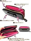 エナメル リボン ラウンドファスナー 長財布 (ブラック) レディース / ファスナー小銭入×1、お札入×2、カード入×8、ポケット×2