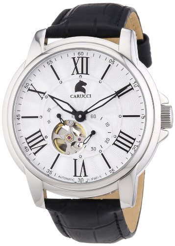 Carucci Watches Men's Automatic Watch Adrano II CA2205SL with Leather Strap