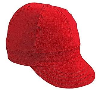 """7520-0-0 Kromer Soldador Rojo Gorra, algodón, Longitud 5 """", Ancho 6"""