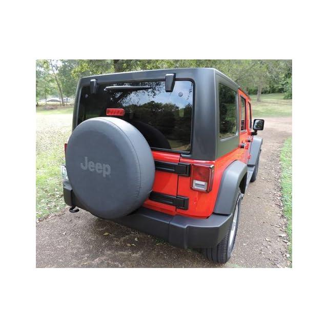 Jeep Wrangler Black Denim W/ Logo Spare Tire Cover 32 33 Inch Mopar OEM