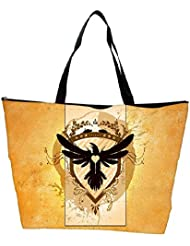 Snoogg Coat Of Arms With The Bird Designer Waterproof Bag Made Of High Strength Nylon