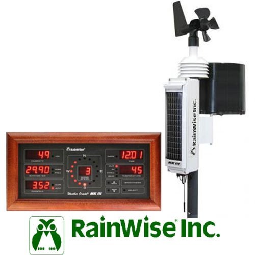 Rainwise MKIII RTI Solar Powered Wireless Pro Weather Station w/ Cherry Base Unit