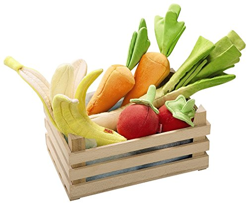 HABA Soft Biofino Vegetable Basket Grocery Toy
