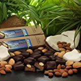 Vegan Coconut Almond Caramels in 66% Dark Chocolate, 5.6 ounces (2 packs - 6 pcs/pack)