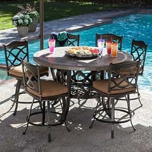 Heirloom Slate Outdoor Patio Dining Set - 7 pc.
