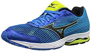 Mizuno Men's Wave Sayonara 3 Running Shoe, Electric Blue Lemonade/Black, 11.5 D US