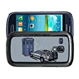 Samsung Galaxy S3 Mini i8190 Fun Funny Dr Who Back To The Future Case/Cover + Screen Protector