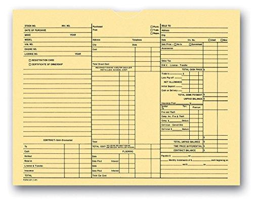 3-in-1 Deal Envelope Deal Jacket (100 Per Pack) (Car Dealer Supplies compare prices)