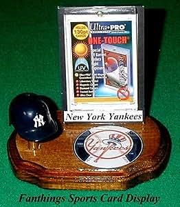 Com new york yankees baseball card holder helmet logo display gift