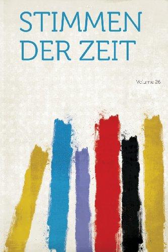 Stimmen Der Zeit Volume 26