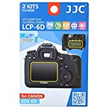 JJC LCP-6D Ultra Hard Polycarbonate LCD Film Screen Protector For Canon EOS 6D (2 Kits)