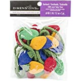 Dimensions Feltworks Christmas Lights Garland - 2 by 60-Inch