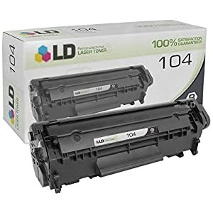 LD © Remanufactured Replacement for Canon 0263B001A (104) Black Laser Toner Cartridge for use in Canon FaxPhone L120, L90, ImageClass D420, D480, MF4150, MF4270, MF4350d, MF4370dn, and MF4690 Printers