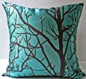 ElleWeiDeco Modern Cyan Blue Throw Pillow Cover