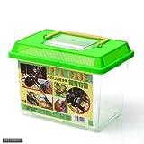 飼育容器 小 青(225×150×157mm) プラケース 飼育容器 昆虫 メダカ ザリガニ 両生類など