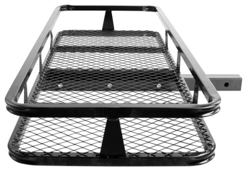 "48"" Basket Style Bumper Cargo Hitch Carrier With A 500 Lb. Capacity"
