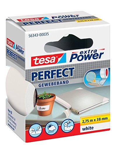 tesar-extra-power-perfect-gewebeband-275m38mm-5er-pack-weiss