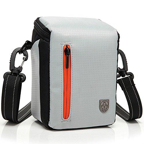 First2savvv BDV2505 bianco qualità di lusso di nylon del cassa della macchina fotografica per CASIO EXILIM EX-H50 LEICA X2 D-LUX 6 D-LUX 5 X2 EDITION PAUL SMITH con lettore di schede