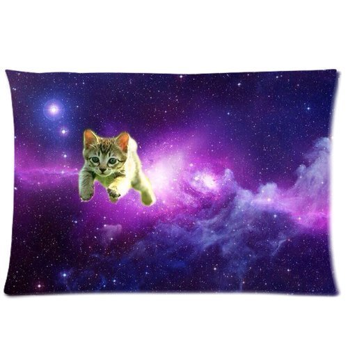 Lovely Cat In The Purple Sky Universe Galaxy Pillowcase Zippered 20x36 Inchs Design Two Sides Printed Pillow Case Cover (Universe Pictures compare prices)