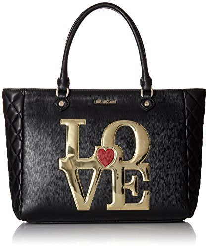Love Moschino Love Tote Shoulder Bag, Black, One Size