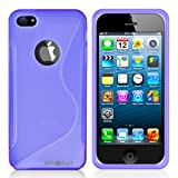MiniSuit S Shape Case for Apple iPhone 5 - TPU Silicone Skin Cover (Purple)