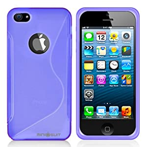Minisuit S Shape Case Cover for iPhone 5/5S (Purple)