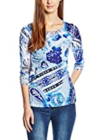 SIDECAR Camiseta Manga Larga Marisol (Azul)