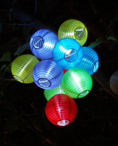 Solaration(TM) SGCL10LA204 Solar Party Decorations Fairy Lights with 10 Color Lanterns