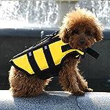 HOOPET® Hund Schwimmhilfe Sicherheitweste M Gelb mit praktischem Bergegriff