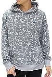 (ファットアニマルズ) Fat animals パーカー メンズ 長袖 プルオーバー ロゴ ストリート 迷彩 総柄 2color LL ミディアムグレー
