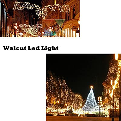 WALCUT Waterproof Crystal Flexible Clear PVC 110V LED Rope Light Strip Light Lamp For Party Christmas Birthday Holiday Business Restaurant Light Kit Indoor/Outdoor