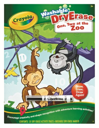 Crayola Dry Erase Books One Two at the Zoo - 1