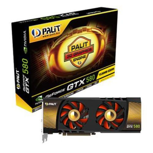 Palit GeForce GTX 580 NVIDIA Graphics Card with 3D Surround Ready (1.536GB, PCI-E 2.0, GDDR5)