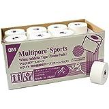 3M(スリーエム) マルチポア スポーツ ホワイト 非伸縮固定テープ チームユース用バルクパック 2980TP38