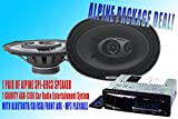 "ALPINE Packpage Deal! 1 Pair Alpine 6X9"" SPJ-69C3 Car Speaker + 300W GRAVITY AGR-S205BT Car Stereo Receiver - Built-in BLUETOOTH/SD/USB/Front Aux - Mp3 Playable"
