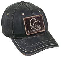 Ducks Unlimited Frayed Patch on Weathered Cotton Cap, Dark Brown