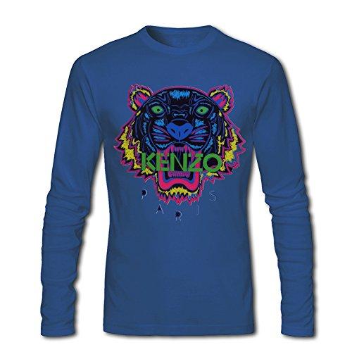 KENZO Tiger Head For 2016 Mens Printed Long Sleeve tops t shirts