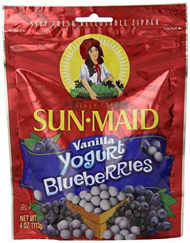 Sun Maid Yogurt Blueberries, Vanilla, 4 Ounce (Fruit And Yogurt Snacks compare prices)