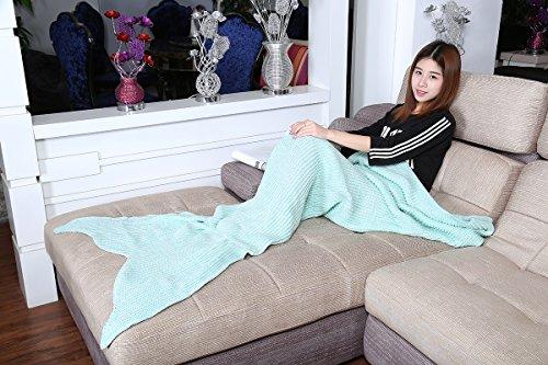 Crochet Pattern for Mermaid Tail Blanket (200*100cm, Sky Blue)