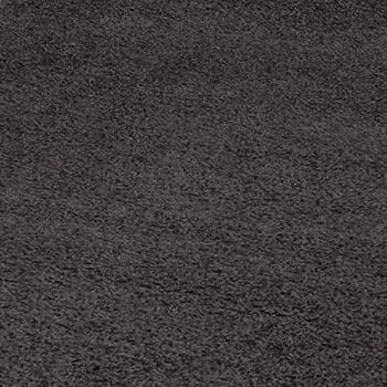 Ottomanson Soft Cozy Color Solid Shag Area Rug Contemporary Living and Bedroom Soft Shag Area Rug, Dark Grey, 710 L x 910 W